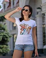 """Женская футболка с принтом """"Burger"""", фото 1"""