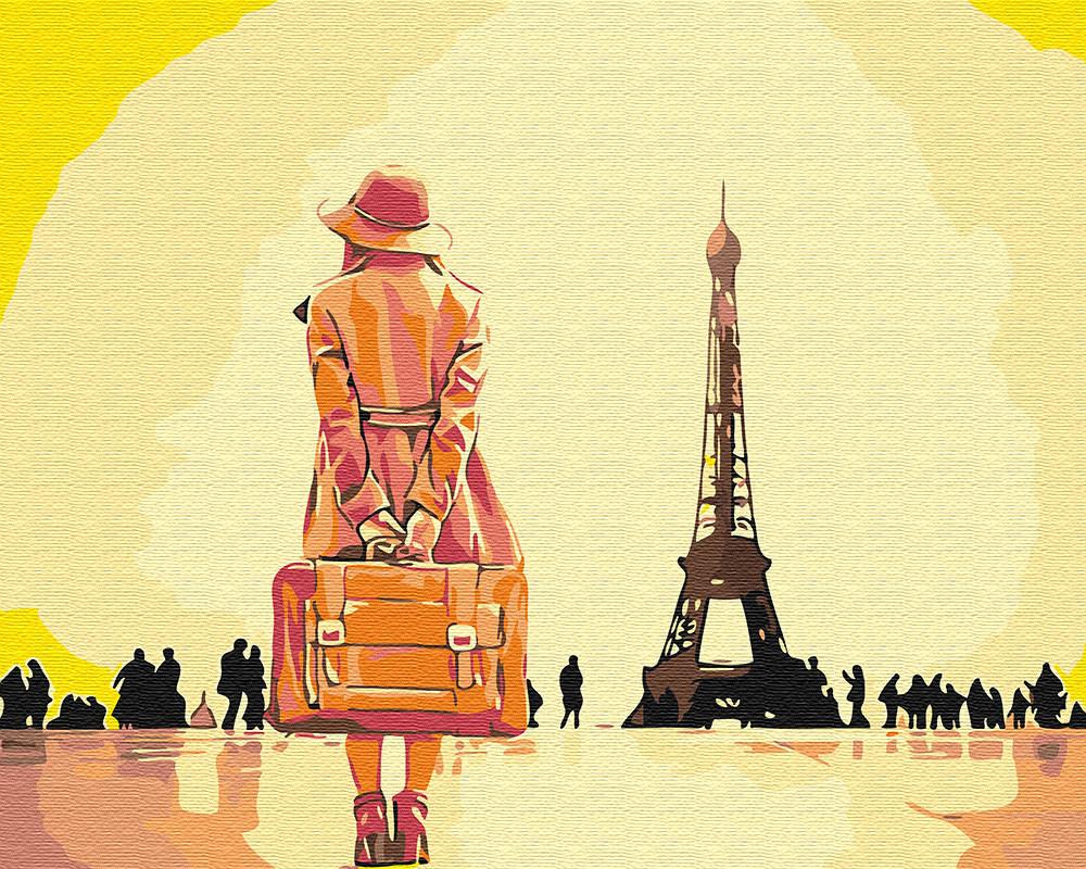 """Картина по номерам BrushMe """"Путешественница в Париже"""" 40х50 GX30474"""
