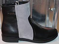 Ботинки кожаные женские демисезонные от производителя модель СА211, фото 1