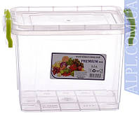 Контейнер для хранения продуктов с зажимами Premium - 1,1л глубокий