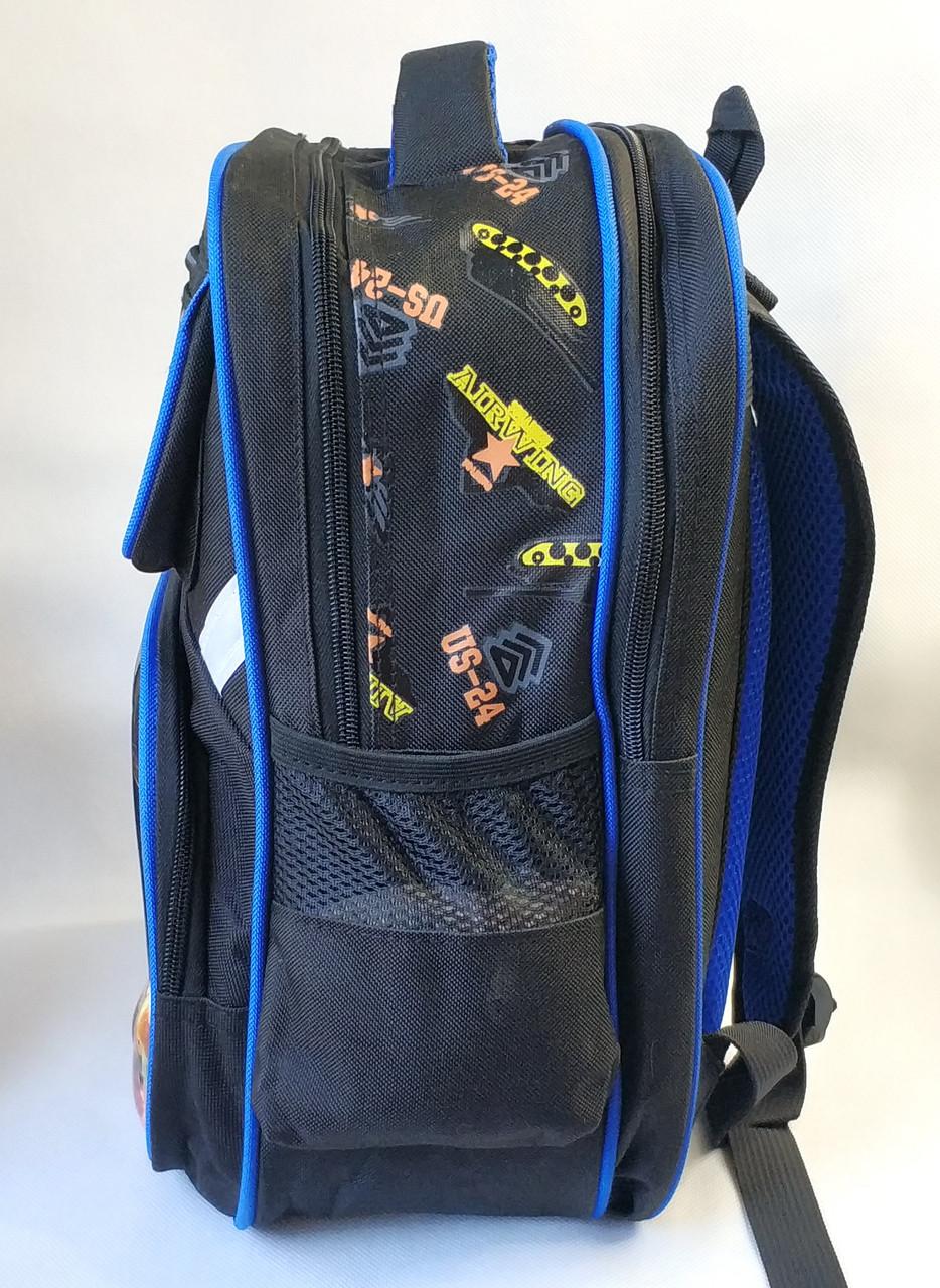 Школьный рюкзак черный танки