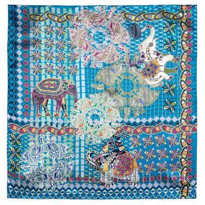 10386-12, павлопосадский платок (атлас) шелковый с подрубкой
