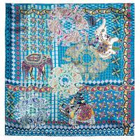 10386-12, павлопосадский платок (атлас) шелковый с подрубкой, фото 1