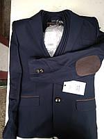 Дитячий костюм синій трійка для хлопчика