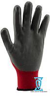 Перчатки рабочие нитрил серый (Intertool SP-0124)