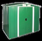 Сарай металлический 2,62*1,82 м ECO зеленый с белым, фото 2