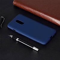 Чехол Soft Touch для OnePlus 7 силикон бампер темно-синий