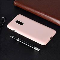 Чехол Soft Touch для OnePlus 7 силикон бампер светло-розовый