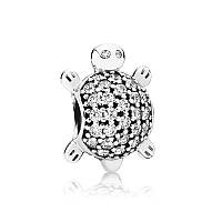 Шарм морская черепаха из серебра 925 пробы пандора (pandora)