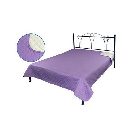 Покрывало на кровать, диван сиреневое 150х212 двустороннее, фото 2