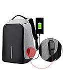 Рюкзак-протикрадій Bobby (Репліка) міський з USB портом і світловідбивними смугами ОПТ, фото 3