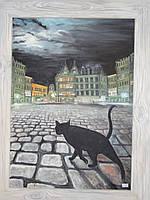 """Картина """"Кошка в Брюсселе"""", фото 1"""