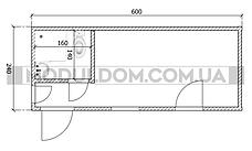 Вагончик для прораба (6 х 2.4 м.), офис, жилой модуль, санузел, душкабина, бойлер., фото 2