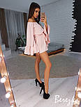 Женский комбинезон ромпер с расклешенными рукавами (в расцветках), фото 2
