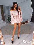 Женский комбинезон ромпер с расклешенными рукавами (в расцветках), фото 6