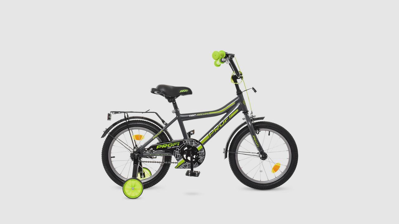 Велосипед детский 16д.Y16108. PROF1.Графит-салатовый (матовый).Звонок.