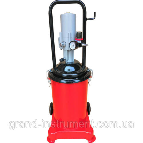 Нагнетатель консистентной смазки с пневмоприводом (12л.) G.I. KRAFT AGL-12