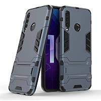 Чехол Hybrid case для Honor 20i / 20 Lite бампер с подставкой темно-синий