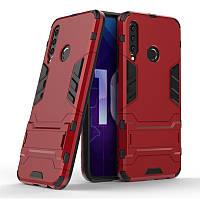 Чехол Hybrid case для Honor 20i / 20 Lite бампер с подставкой красный