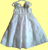 Нарядное белое платье для девочки, р.2
