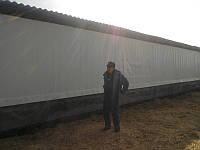 Штори з тканини 200UV, біла