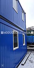Мобильное здание. 2-х этажный офис, на основе цельно-сварного металлокаркаса., фото 2