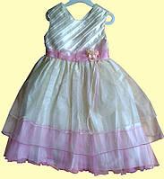 Кремовое нарядное платье для юной Принцессы, р. 2