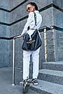 Женский белый брючный костюм костюмка молодёжный классический повседневный, фото 7