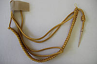 Аксельбант золотой с одним наконечником