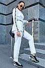 Женский белый брючный костюм костюмка молодёжный классический повседневный, фото 6