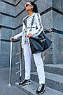 Женский белый брючный костюм костюмка молодёжный классический повседневный, фото 5
