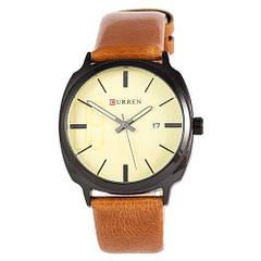 Наручные часы Curren Black-Brown Gold dial 8212-2