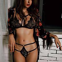 Комплект белья с элементами портупеи / Эротическое белье / Сексуальное белье / Еротична сексуальна білизна, фото 1