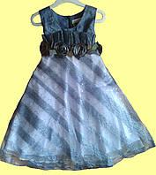 Нарядное серое платье для девочки р. 2