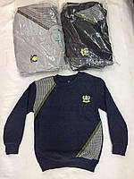 Батник для мальчика на 9-12 лет синего, черного, серого цвета оптом