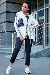 Брючный костюм женский бело-чёрный