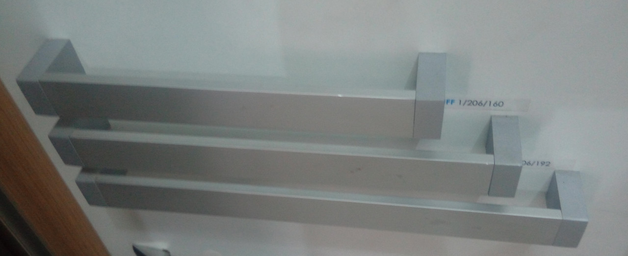 Ручка мебельная релинг GIFF1 / 206 Алюминий