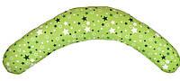 """Подушка-банан для беременных и кормящих """"Relax"""", звездный микс на зеленом, фото 1"""