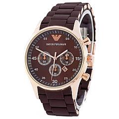 Наручные часы Emporio Armani Silicone Gold-Brown