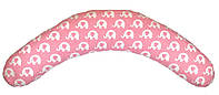 "Подушка-банан для беременных и кормящих ""Relax"", слоники на розовом, фото 1"