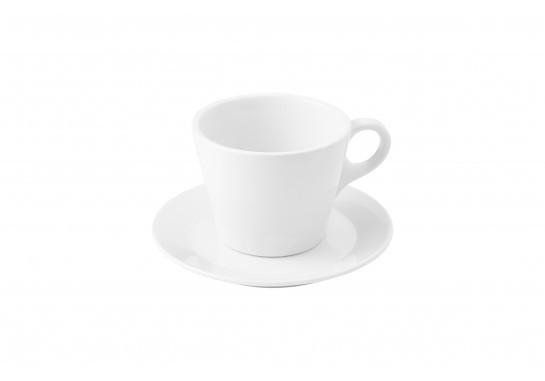 "Чашка с блюдцем ""Lavazza"" (150мл) Alt Porcelain CaBaRe Белая (F2433+F2434)"