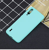 Чехол Soft Touch для Xiaomi Mi A3 силикон бампер мятно-голубой