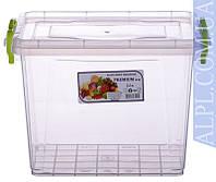 Контейнер для хранения продуктов с зажимами Premium - 2,5л глубокий