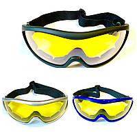 Очки защитные на резинке с желтыми линзами, фото 1