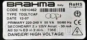 Высоковольтный трансформатор Brahma TD2LTCAF code 15910462