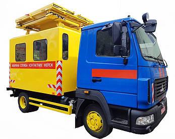 Машина аварийная для ремонта контактных сетей базе МАЗ, фото 2