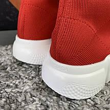 Кроссовки женские в стиле Balenciaga красные, фото 3