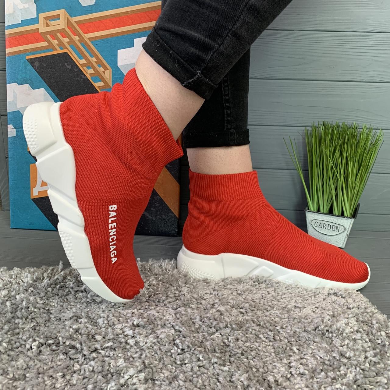 Кроссовки женские в стиле Balenciaga красные