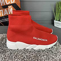 Кроссовки женские в стиле Balenciaga красные, фото 2