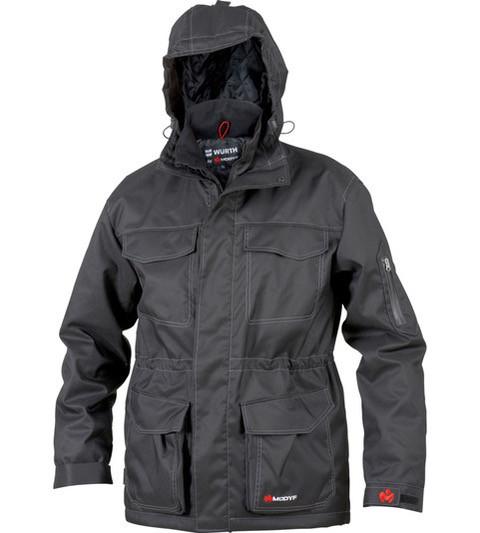 Куртка парка WURTH Black Premium с фирменным логотипом